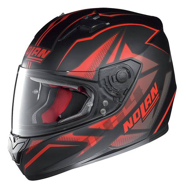 Nolan N64 Flazy full face helmet Black Red