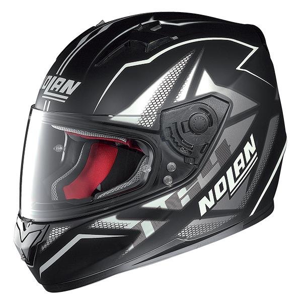 Nolan N64 Flazy full face helmet Black White