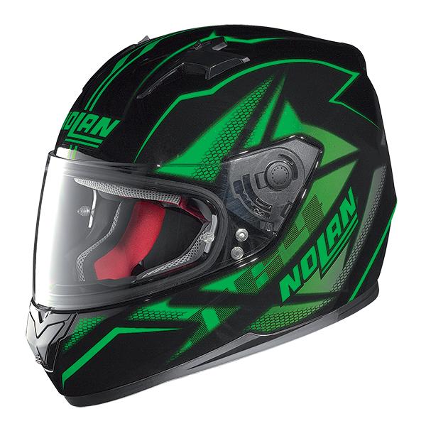 Nolan N64 Flazy full face helmet Black Green