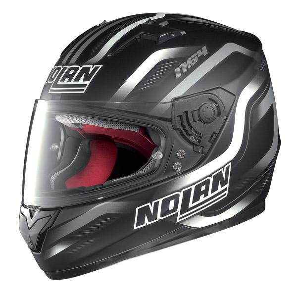 Casco moto integrale Nolan N64 Fusion Nero Opaco