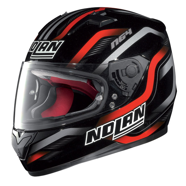 Motorcycle Helmet Full-Face Nolan N64 Fusion Black-Red