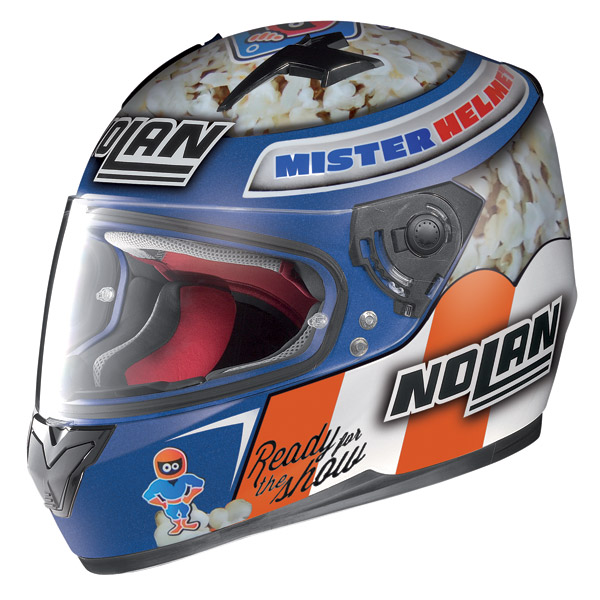 Casco integrale Nolan N64 Gemini Replica Roccoli Pc Cayman Blu