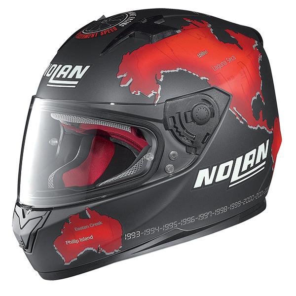 Nolan N64 Gemini Replica Checa full face helmet Black Red