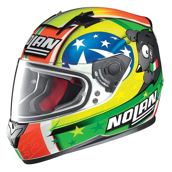 Nolan N64 Gemini Replica Melandri Misano full face helmet