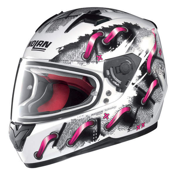 Casco moto integrale Nolan N64 Lace White