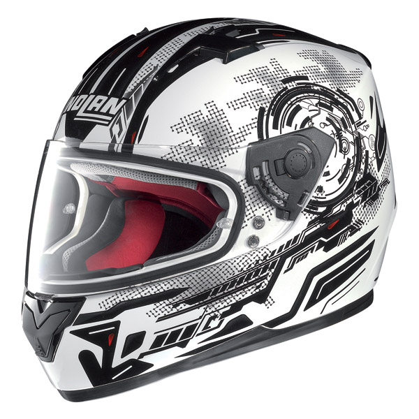 Motorcycle Helmet Full-Face Nolan N64 Next Metal White