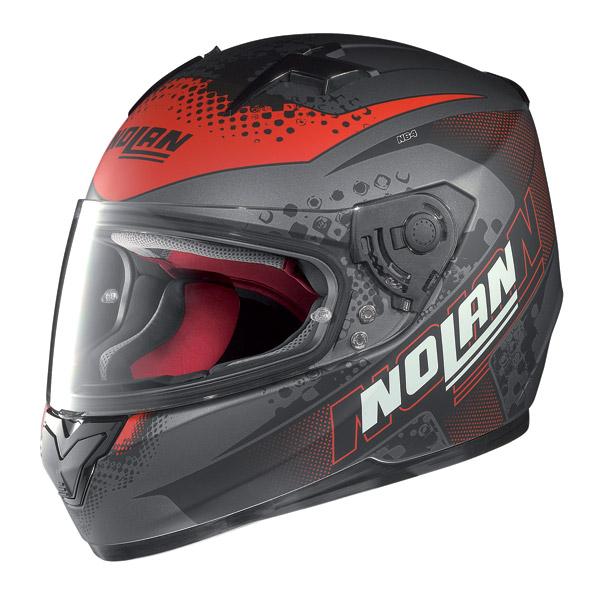 Motorcycle Helmet Full-Face Nolan N64 Sparky Flat Lava Grey