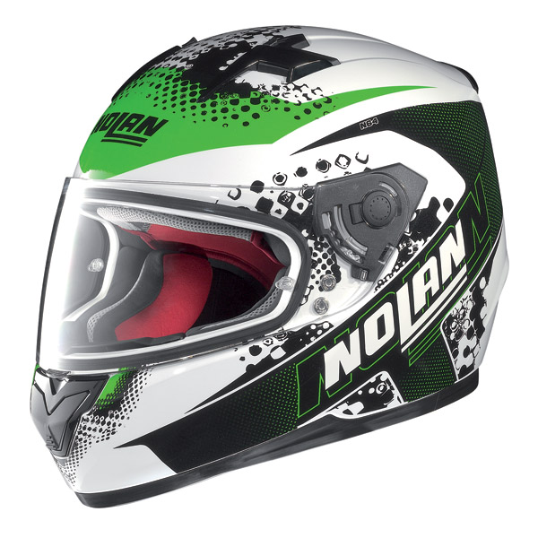 Motorcycle Helmet Full-Face Nolan N64 Sparky Metal White-Green