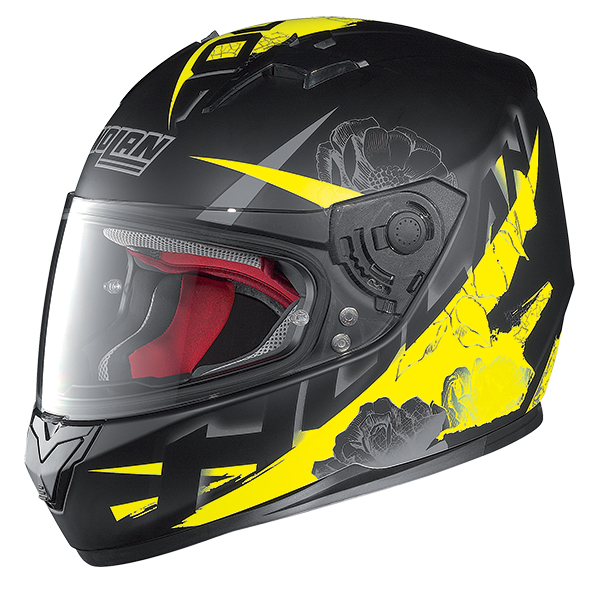 Nolan N64 Stylet full face helmet Matte Black Yellow