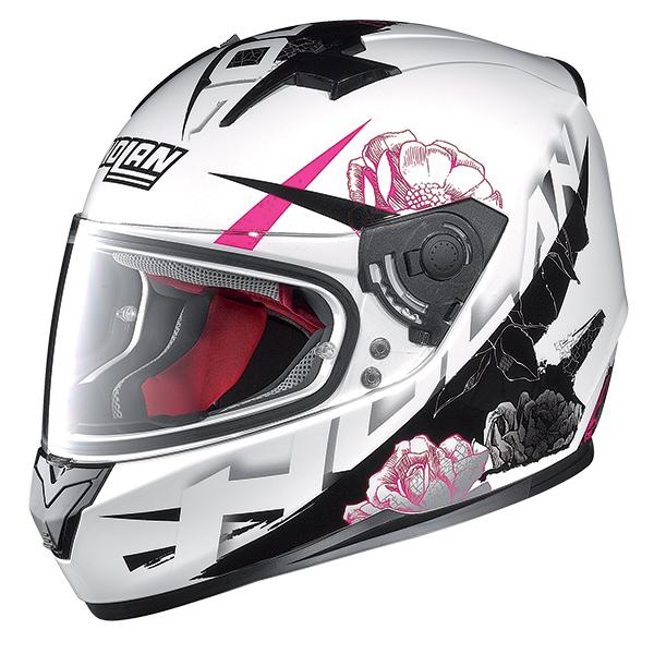 Nolan N64 Stylet full face helmet White Pink