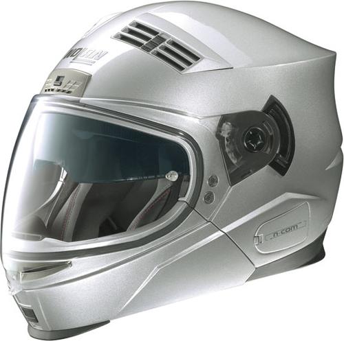 NOLAN N71 Classic N-com flip-up helmet col. platinum silver