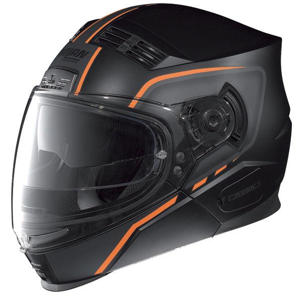 Nolan N71 Vanquish Ncom crossover helmet flat black-red