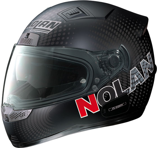 Casco moto integrale Nolan N85 Optical N-com nero opaco