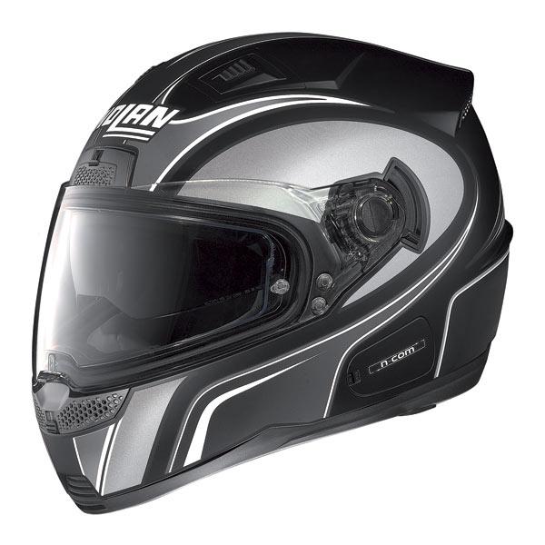 Nolan N85 Tipp N-com fullface helmet flat black-grey