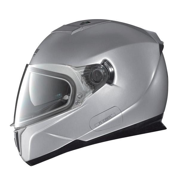 Nolan N86 Classic N-Com platinum silver full face helmet