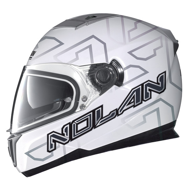 Nolan N86 Ghost metal white full face helmet