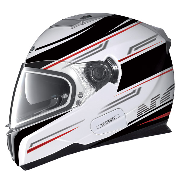 Casco moto Nolan N86 Flow N-Com metal white