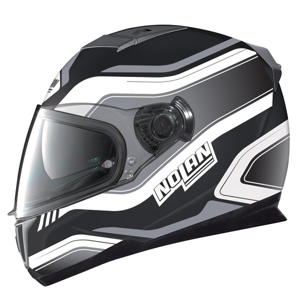 Nolan N86 Deep flat black -white full face helmet