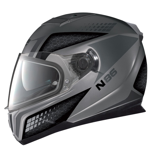Casco moto Nolan N86 Burn Out flat arctic grey
