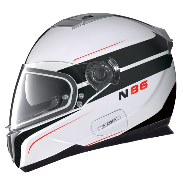 Nolan N86 Rapid N-Com metal white full face helmet