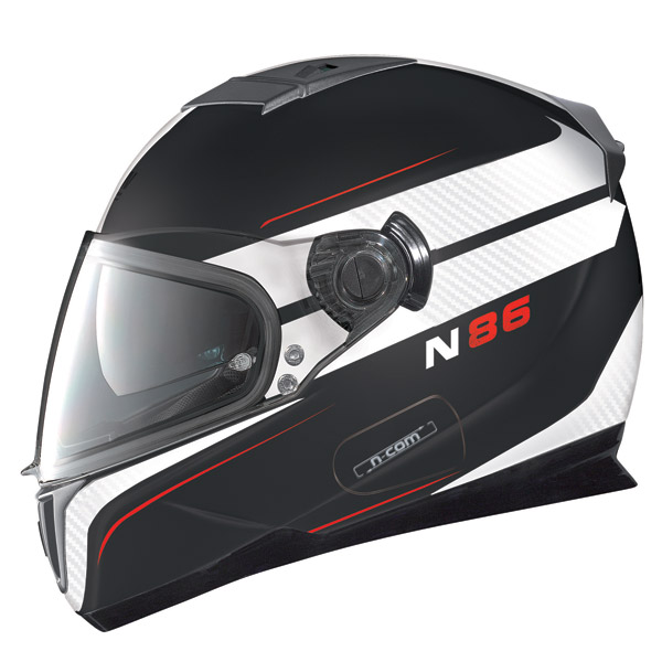 Nolan N86 Rapid N-Com flat black full face helmet