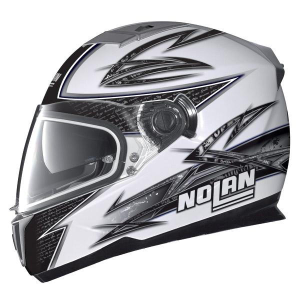 Nolan N86 Beat metal white full face helmet