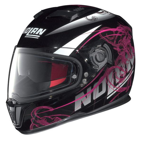 Casco moto integrale Nolan N86 Bloom nero