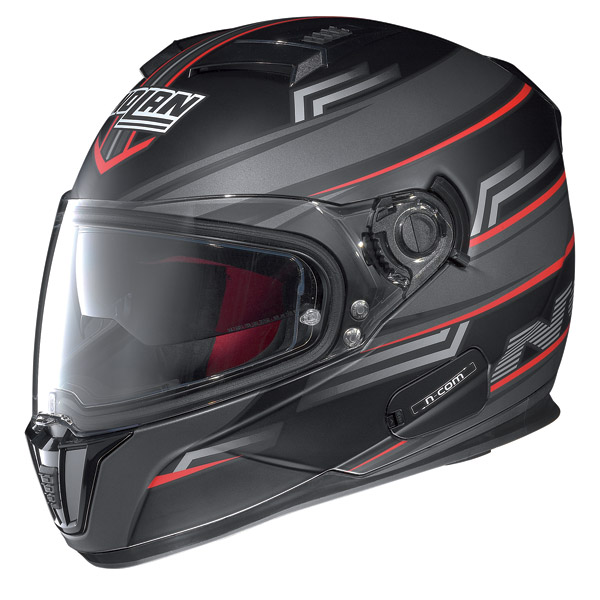 Motorcycle Helmet full-face Nolan N86 N-Com Flow Flat Black
