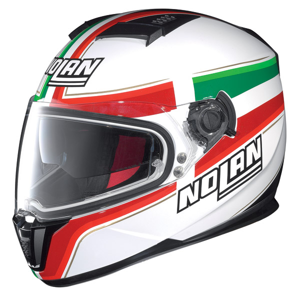 Motorcycle Helmet full-face Nolan N86 Italy Metal White