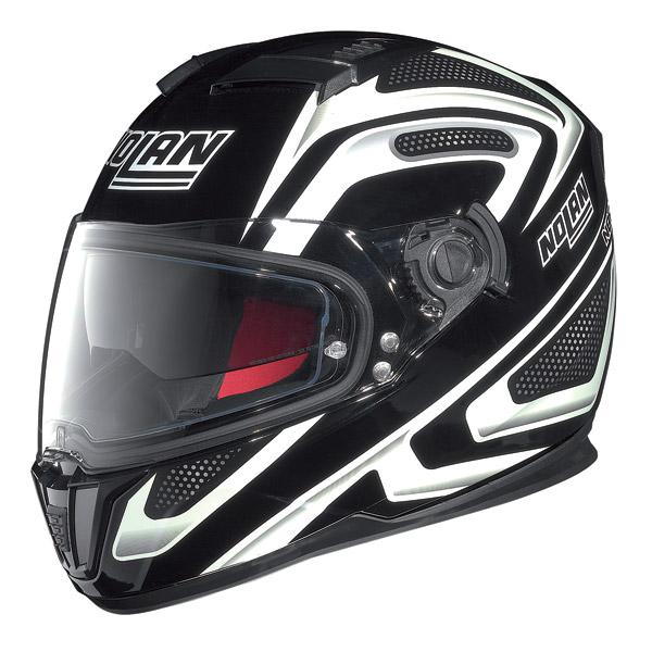 Helmet full-face Nolan N86 Overtaking Glossy Black-White