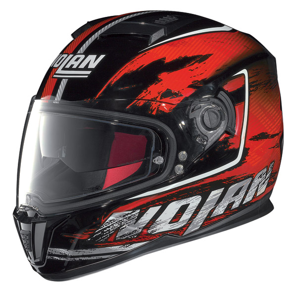 Casco moto integrale Nolan N86 Specter Nero-Rosso