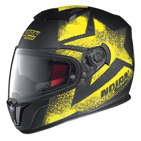 Nolan N86 Stam full face helmet Matte Black Yellow