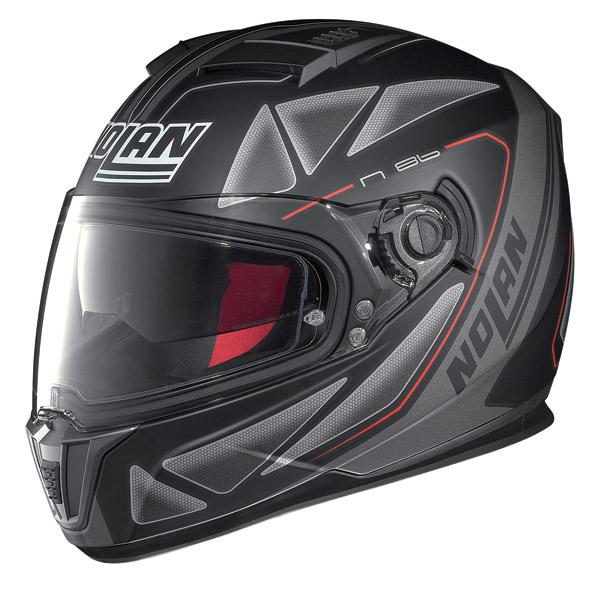 Casco moto integrale Nolan N86 Stealth nero opaco