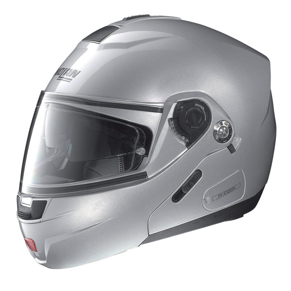 Casco moto Nolan N91 Classic N-Com platinum silver