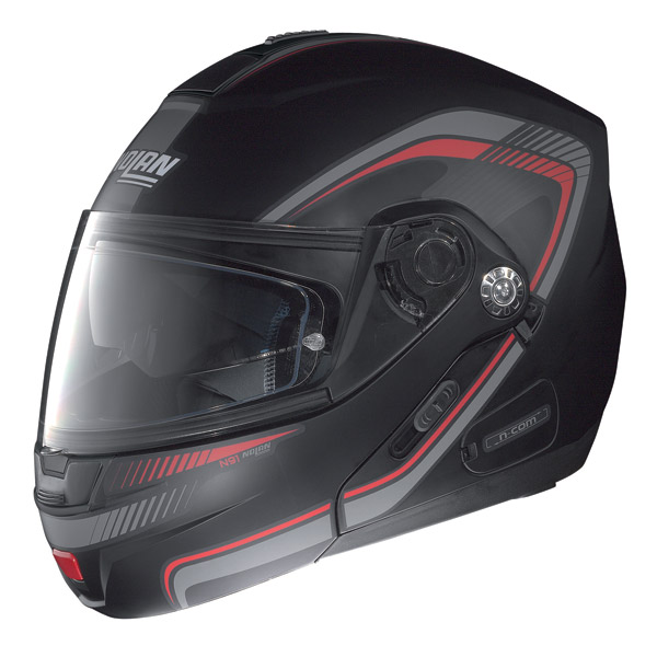 Nolan N91 Revenge N-com open-face helmet flat black-red