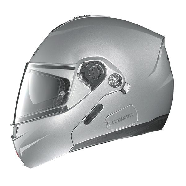 Nolan N91 Evo Hi-Visibility N-Com flip off helmet Yellow Neon