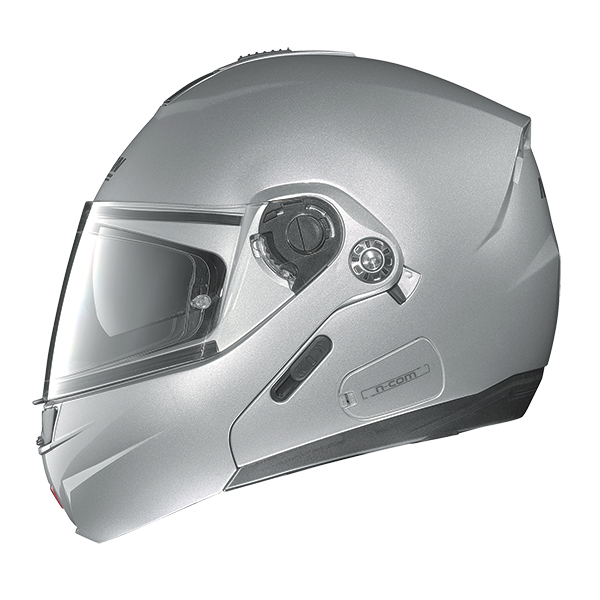 Nolan N91 Evo Hi-Visibility N-Com flip off helmet Orange fluo
