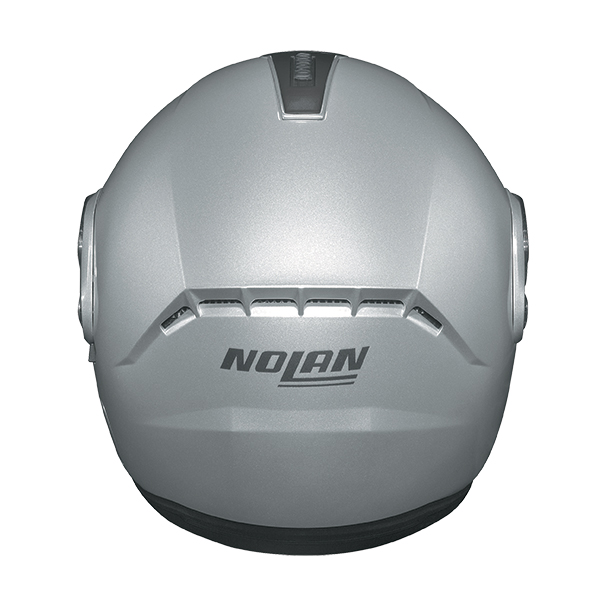 Nolan N91 Evo Strip N-Com flip off helmet Black Matte White