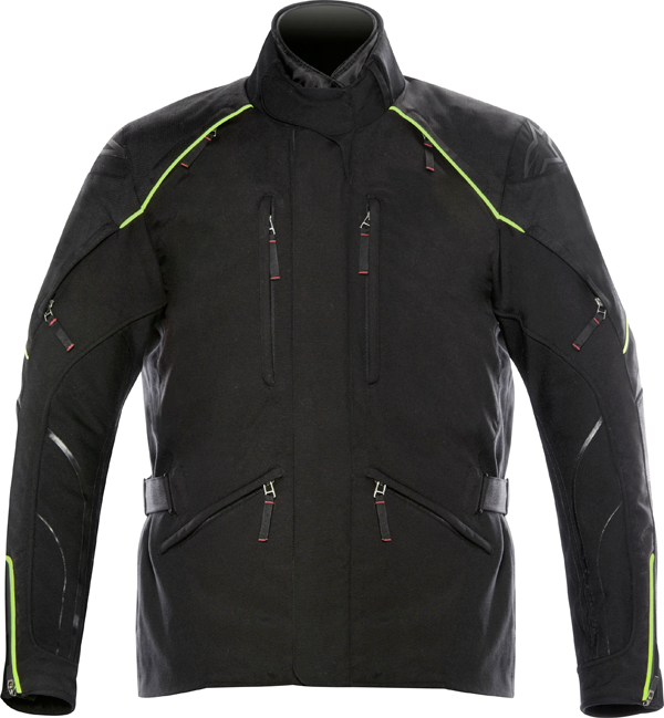 Giacca moto Alpinestars New Land Gore-Tex nera-giallo fluo
