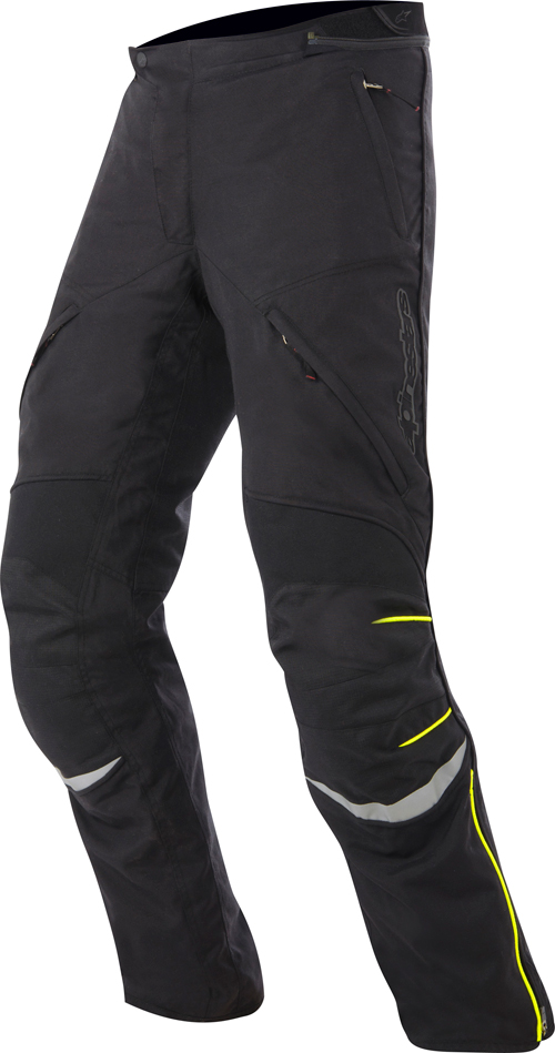 Pantaloni moto Alpinestars New Land Gore-tex nero-giallo fluo