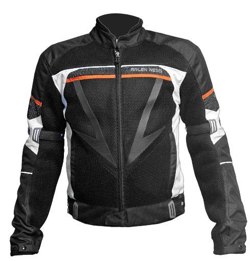 Arlen Ness summer jacket Black White Orange