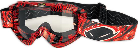 Occhiali moto cross Ufo Plast Nazca Evolution 2 rossi