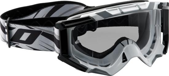 Occhiali moto cross Ufo Plast Mixage bianchi