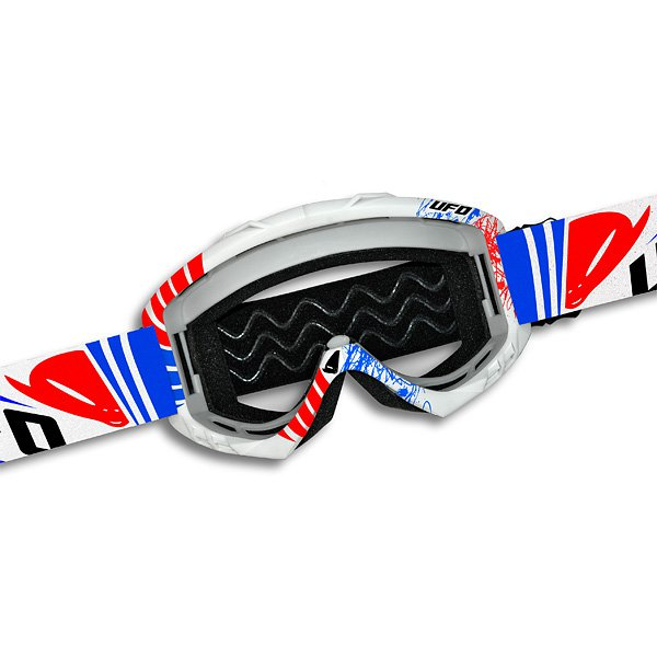 Ufo Plast Bullet cross goggles Blue Red White