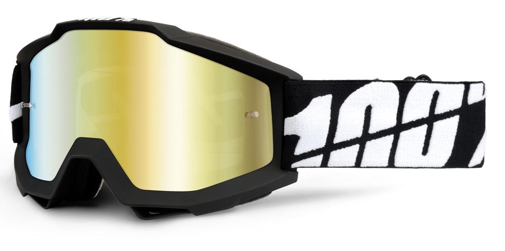 Occhiali cross 100% Accuri BLACK TORNADO lente specchiata