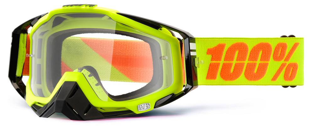 Occhiali cross 100% Racecraft NEON SIGN lente chiara
