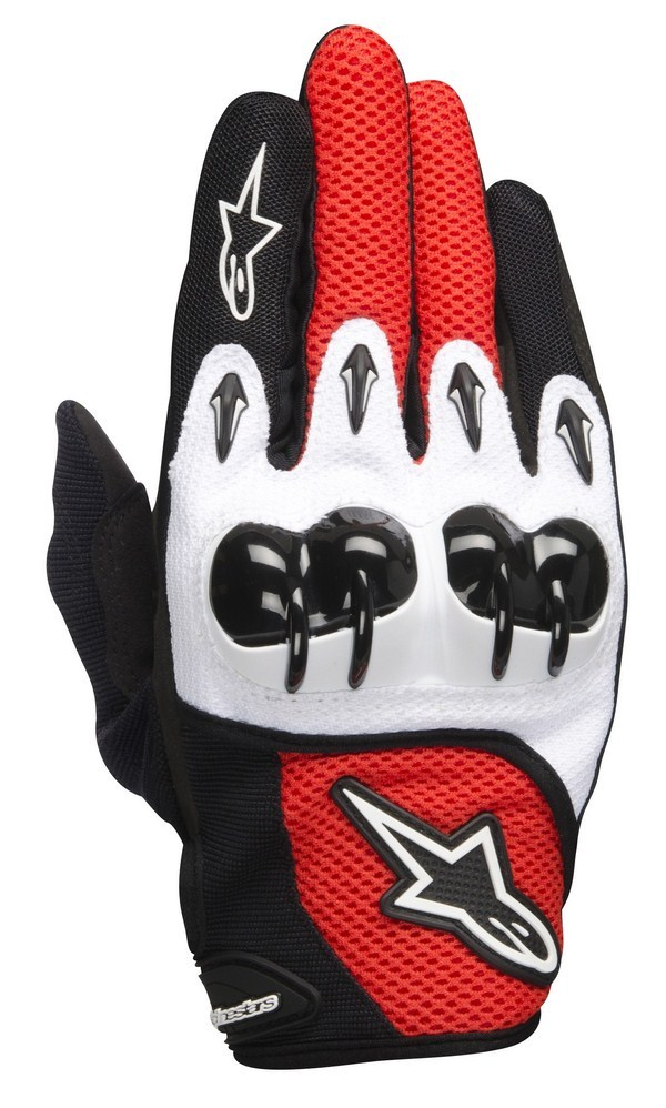 Alpinestars Octane hard Knucle gloves white red black