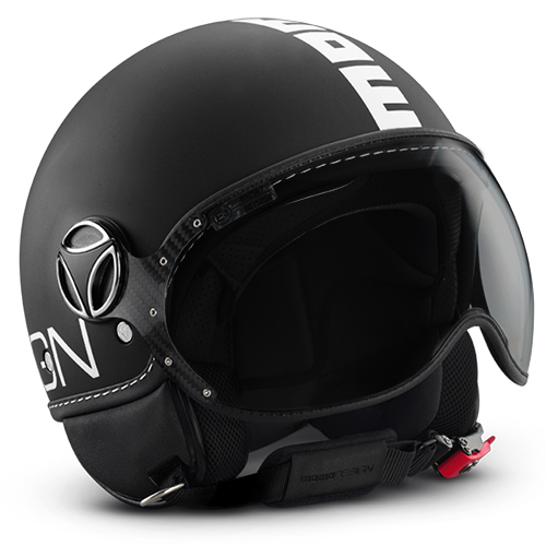 Momo Design Fighter helmet Matt Black - white