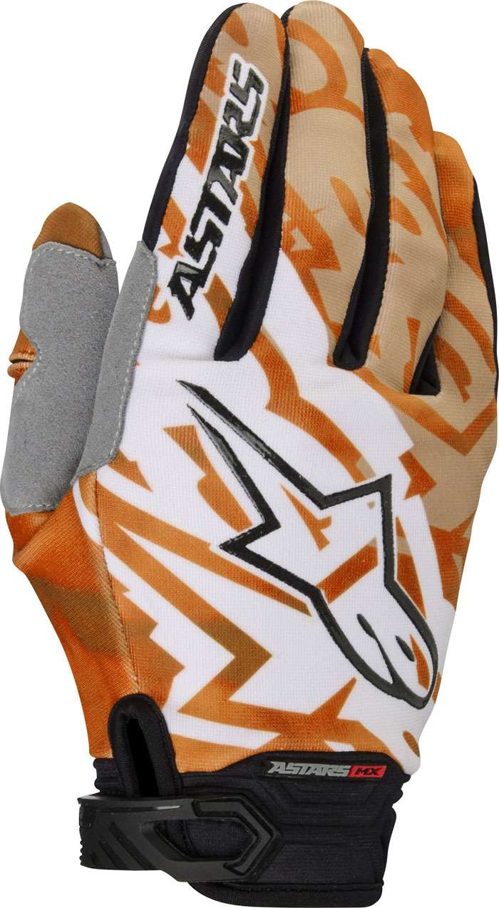 Alpinestars Techstar 2014 offroad gloves white orange