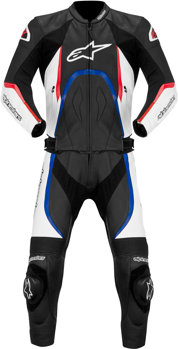 Alpinestars Orbiter leather 2 pieces suit black-white-red-blue